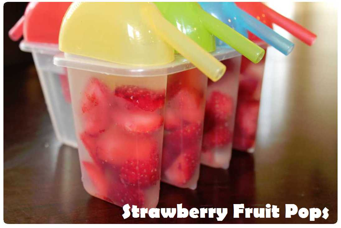 Strawberry Fruit Pops