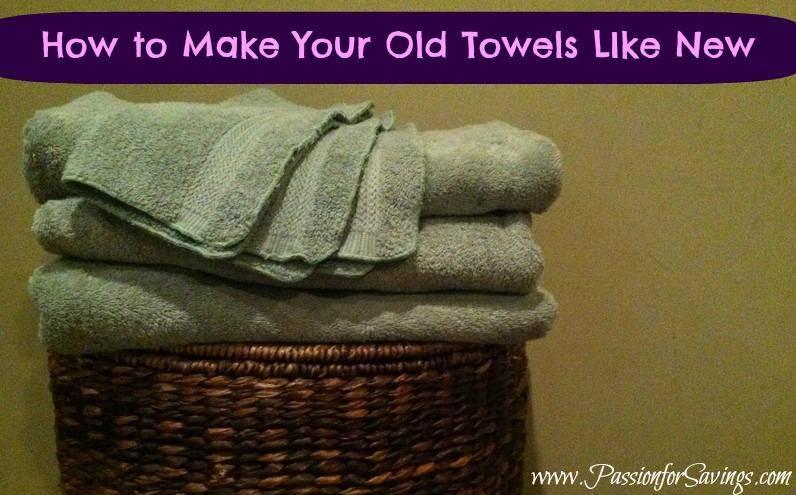 Make Old Towels Like New