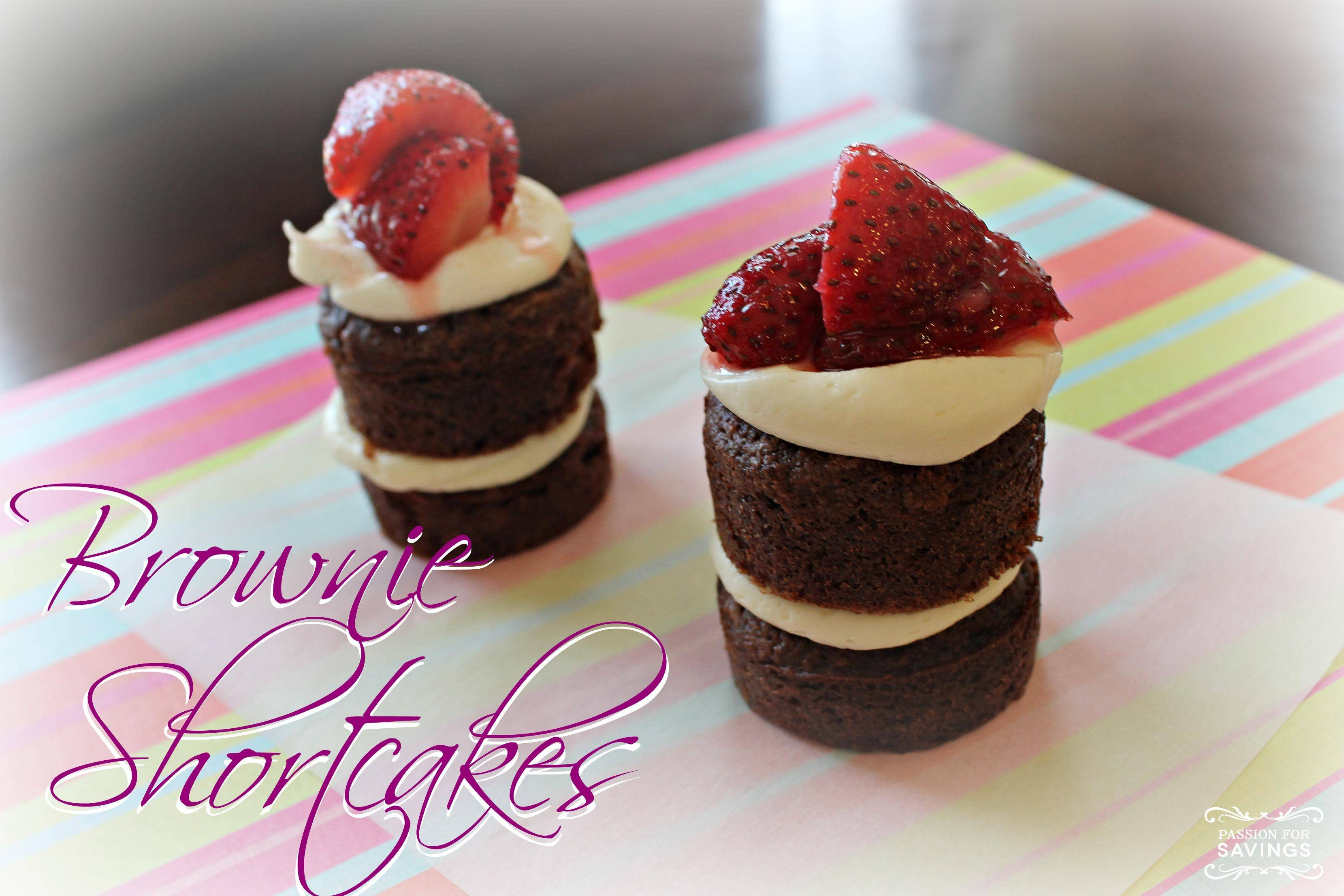 Brownie Shortcakes Recipe