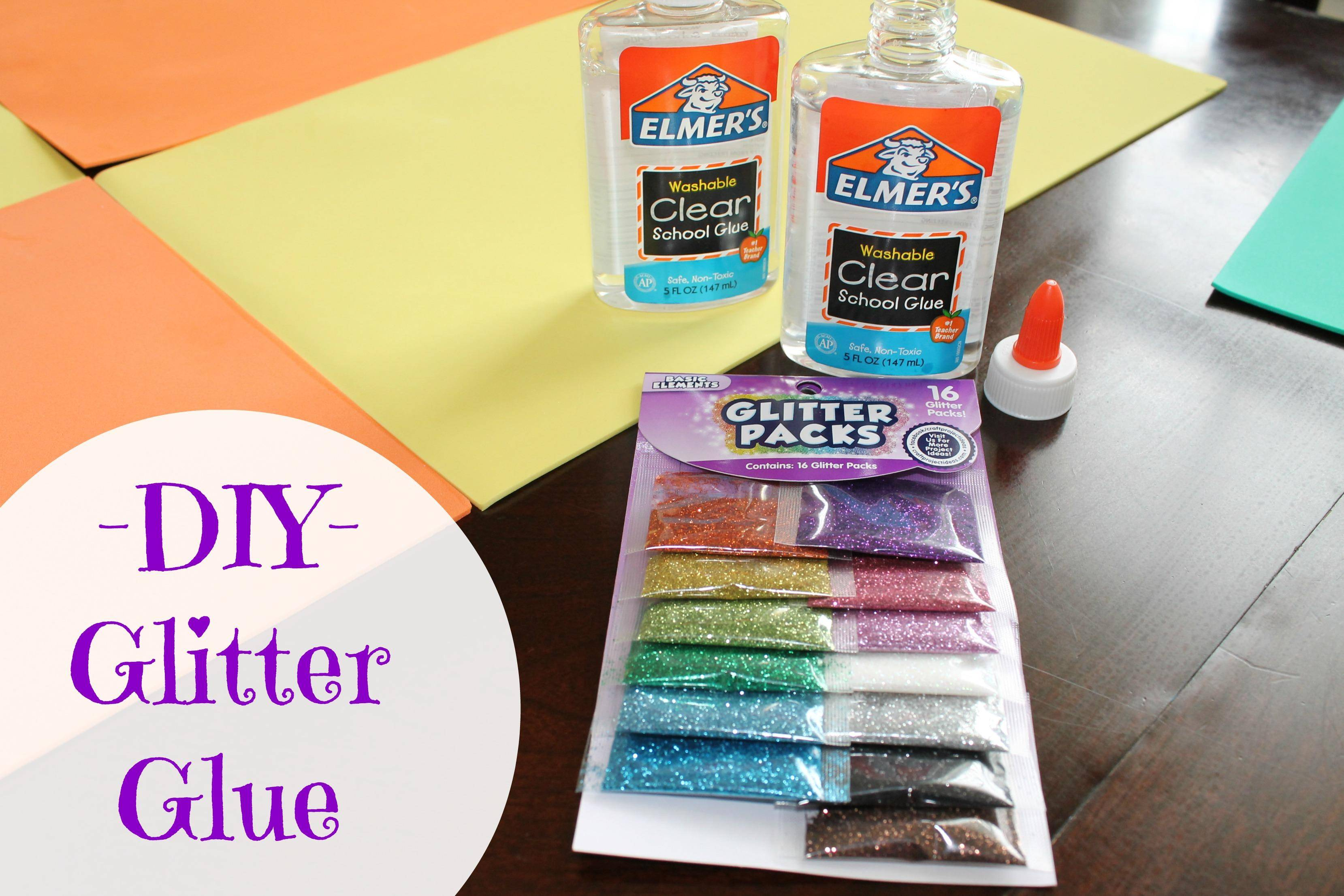 how to make slime with glitter glue and tide