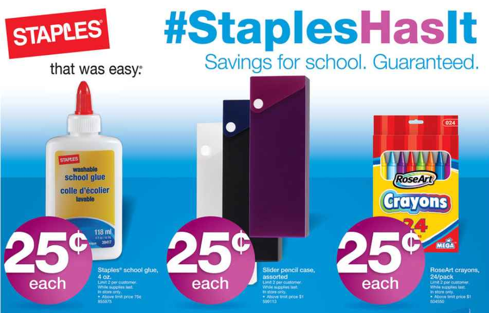 Staples 7/14 Deals