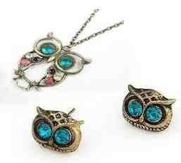 Cheap Owl Jewelry Set