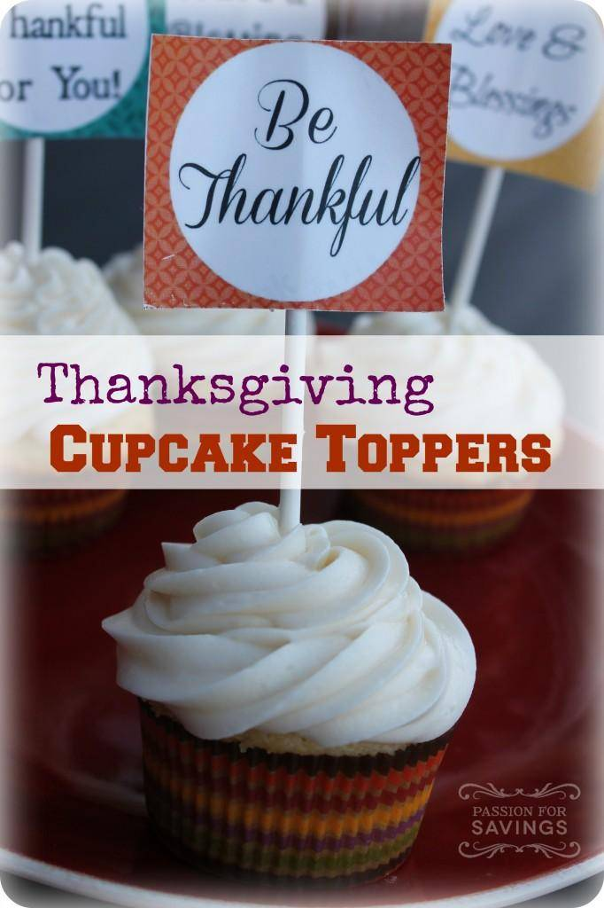 Thanksgiving Cupcake Toppers