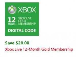 12-Month Xbox Gold Live Card on Sale