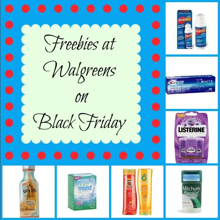 Freebies at Walgreens on Black Friday