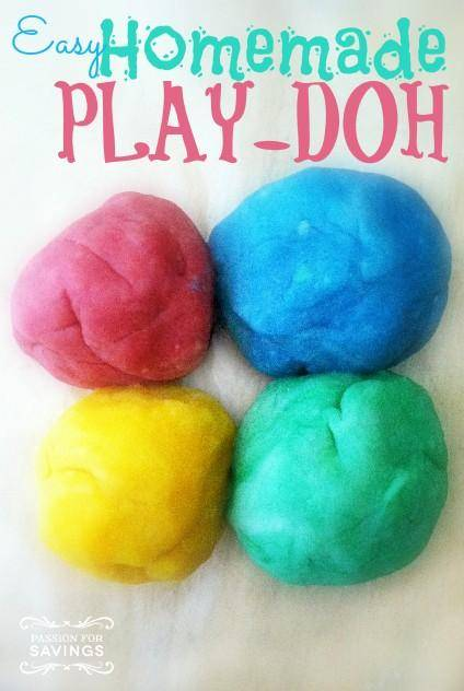 Easy Homemade Play-Doh