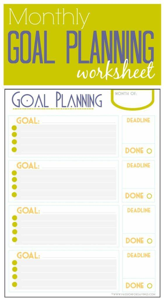 Selective image throughout weekly goal sheet