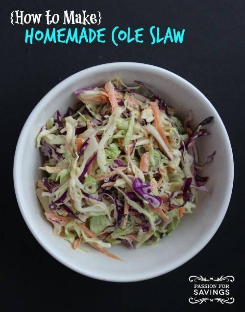 Homemade Cole Slaw Recipe