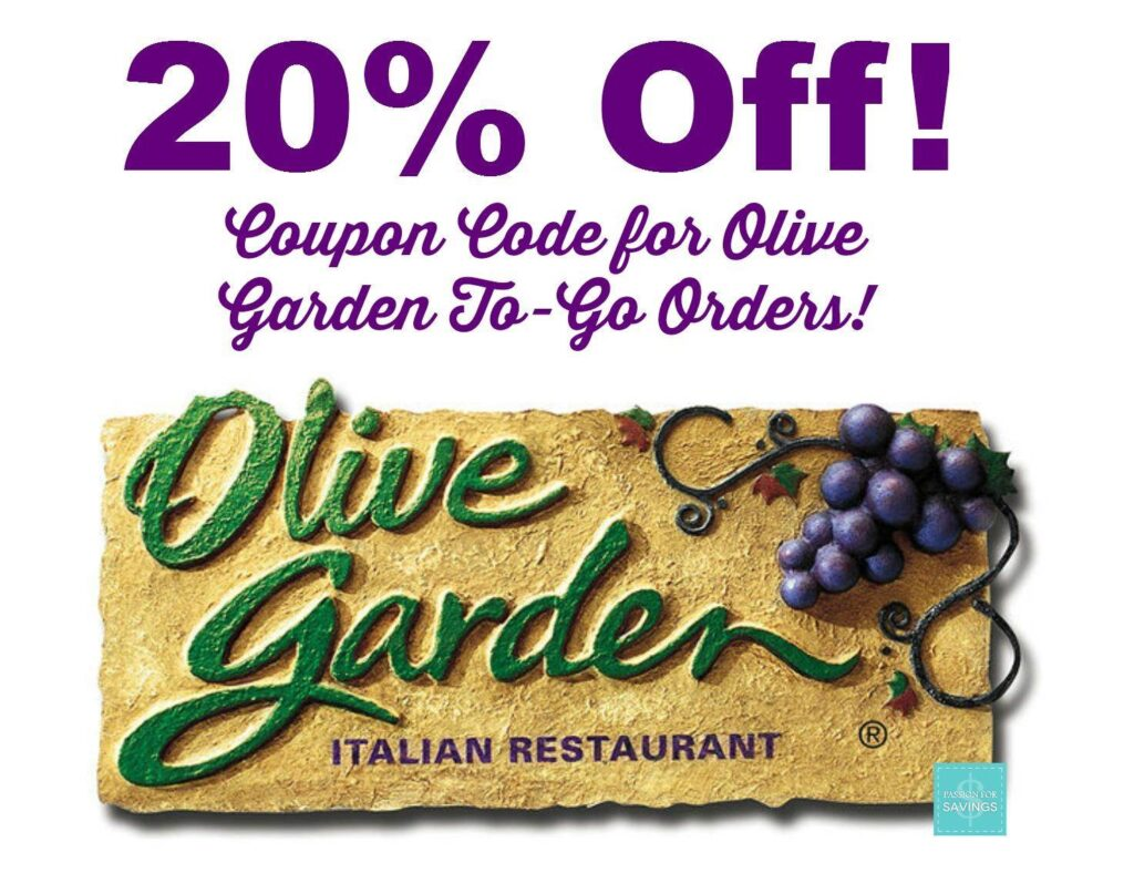 Olive Garden Coupon Code 20 Off To Go Orders
