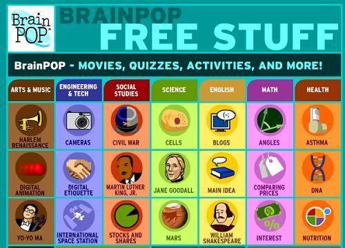 Brain Pop Free Stuff