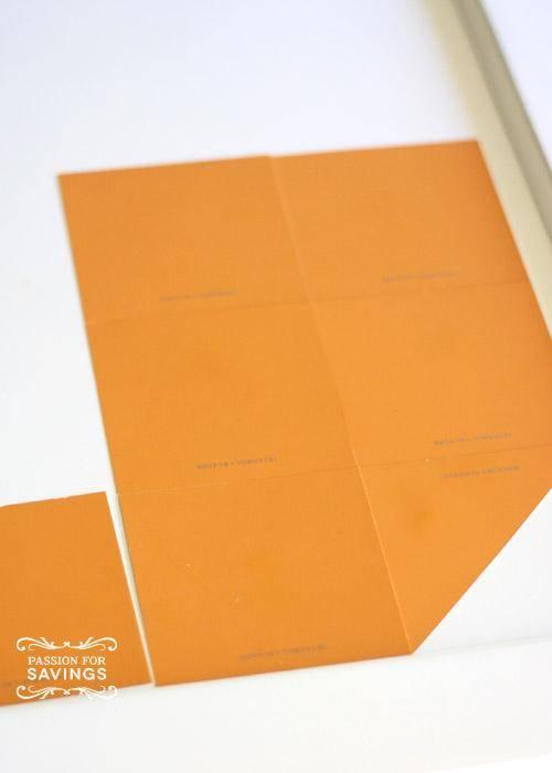 Easy Pumpkin Craft Idea using paint chips
