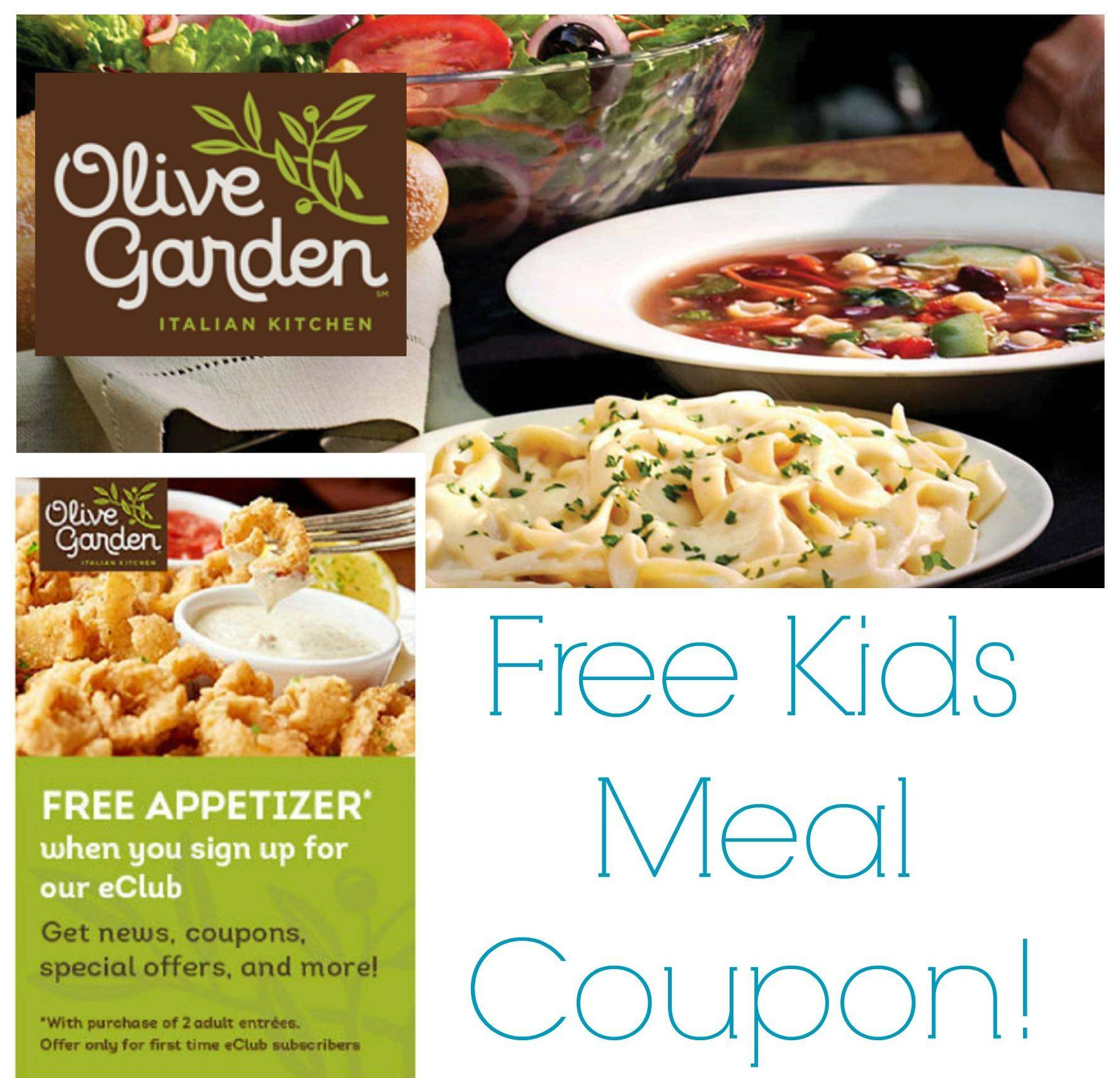 Olive Garden Coupons Free Appetizer Free Kids Meals