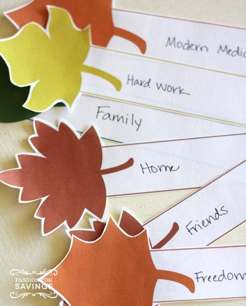Thanksgiving crafts for kids | DIY Thankful tree with free printable