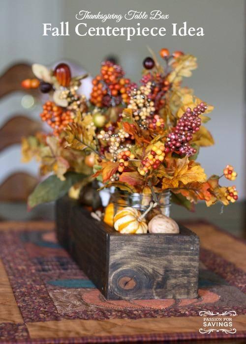 Fall Centerpiece Ideas   Create a Thanksgiving Table Box