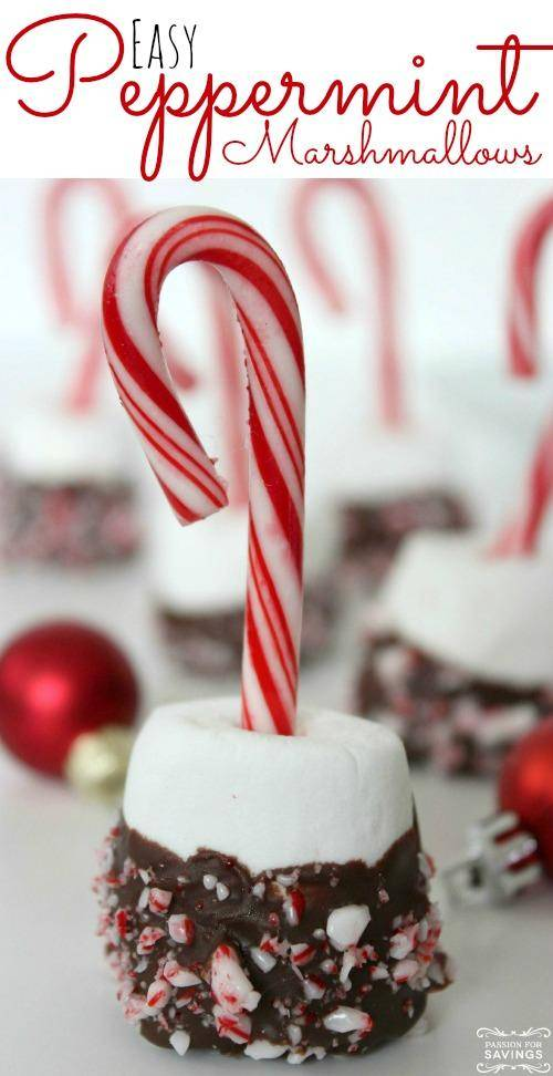 Easy Peppermint Marshmallow Treats