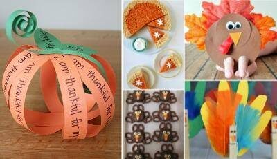 Easy Thanksgiving Crafts and Recipes for Kids!
