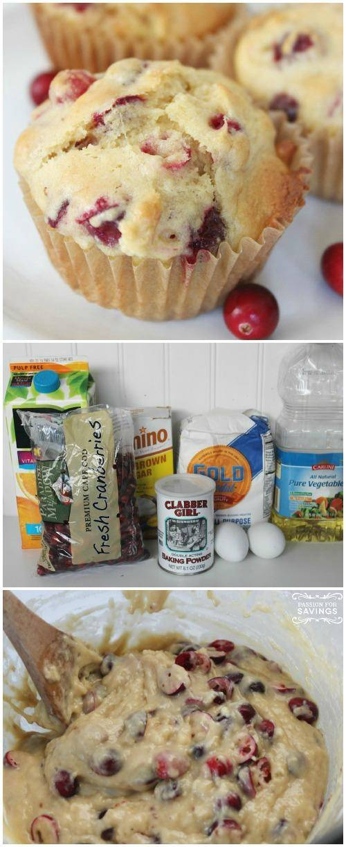 Easy Homemade Cranberry Muffins
