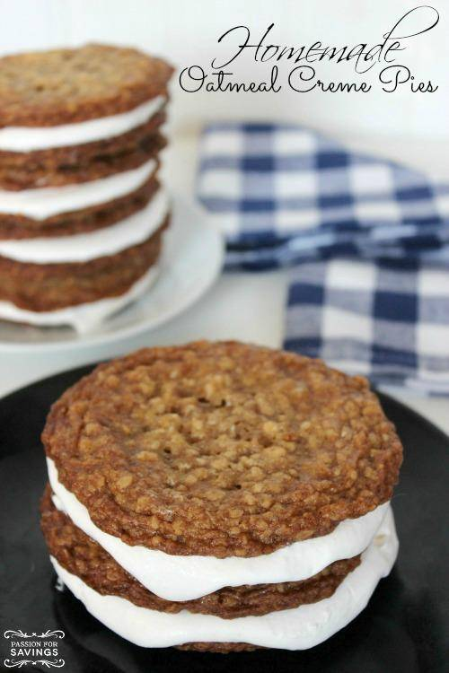 Homemade Oatmeal Creme Pies Recipe