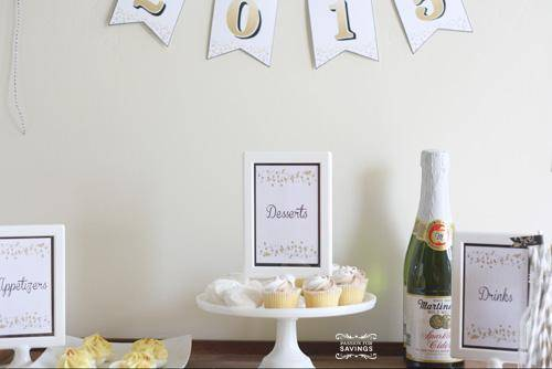 Free printable party pack for your New Year's Eve Party