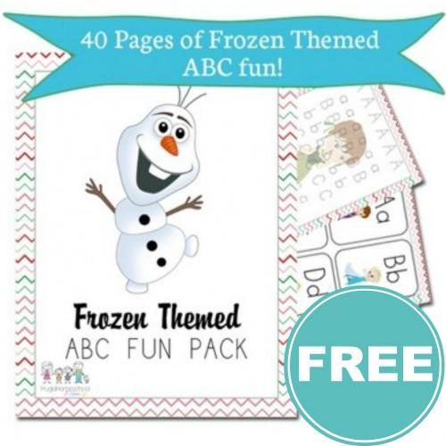 FREE Frozen Themed Preschool Worksheets