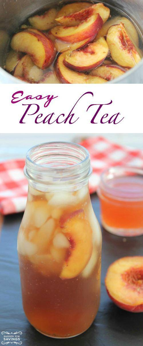Easy Peach Tea Recipe by Passion for Savings