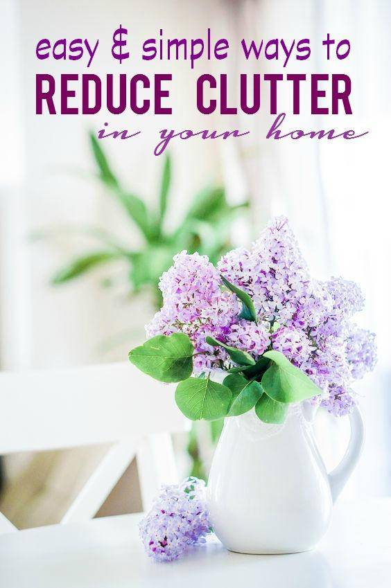 reduce clutter in your home