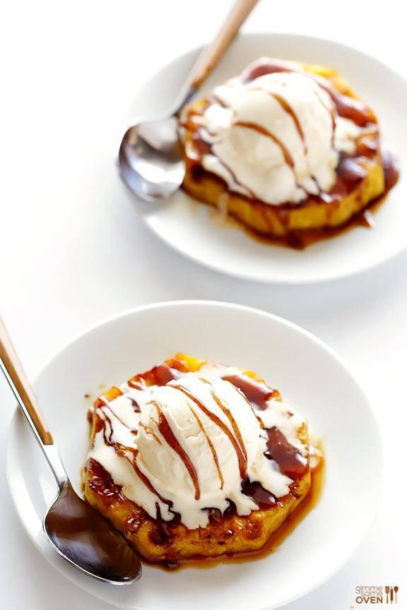 Healthy Dessert Recipe: Grilled Pineapple Sundaes images