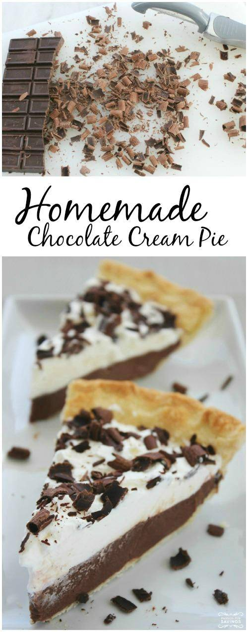 Homemade Chocolate Cream Pie Recipe