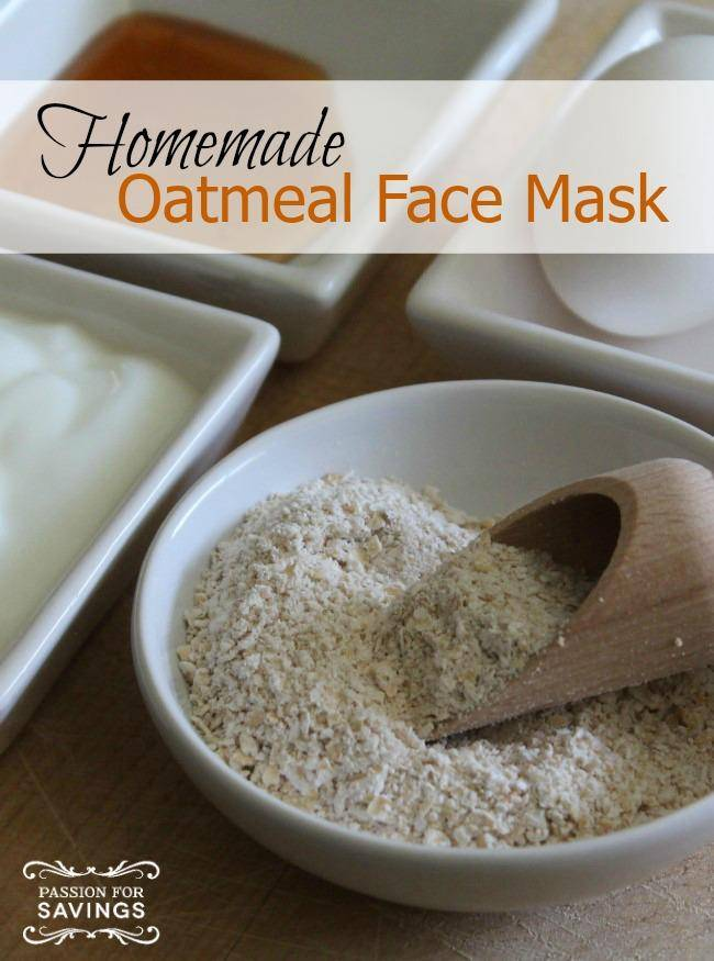 Homemade Oatmeal Face Mask