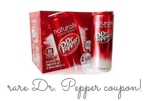 Dr Pepper naturally sweetened Coupon