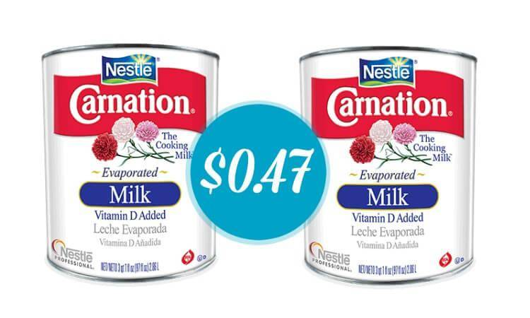 Nestle Carnation Evaporated Milk Coupons