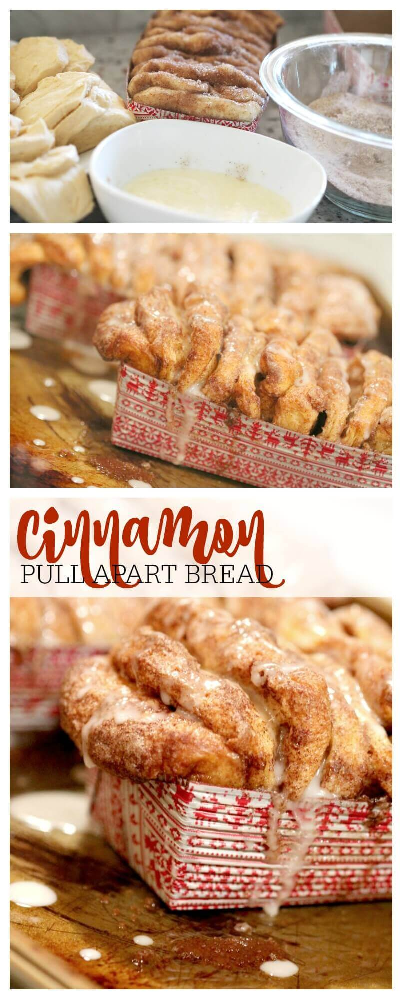 cinnamon pull apart bread featured