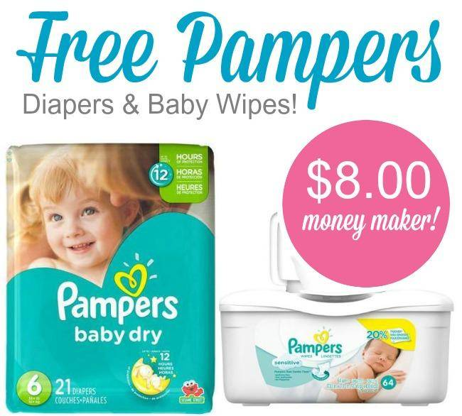 free pampers diapers wipes