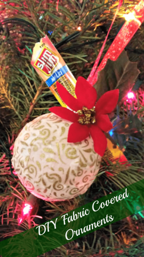 DIY Fabric Covered Ornaments