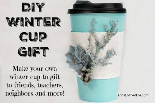 DIY Winter Gift Cup