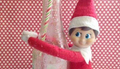Elf on the Shelf Idea: Soda Pop Elf! Creative Poses, Crafts, and Activities to create Christmas Memories with your kids!