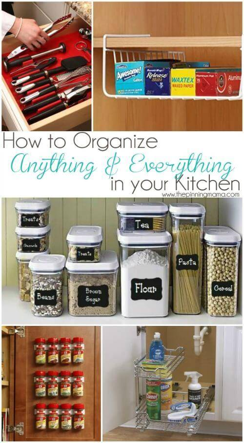How To Organize A Small Kitchen And Stay Sane Organize