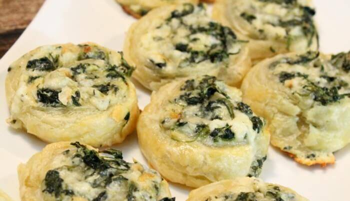 Creamy Spinach Roll Ups Recipe