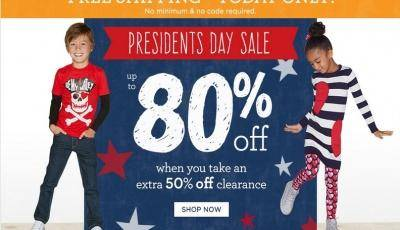 Gymboree President's Day Sale