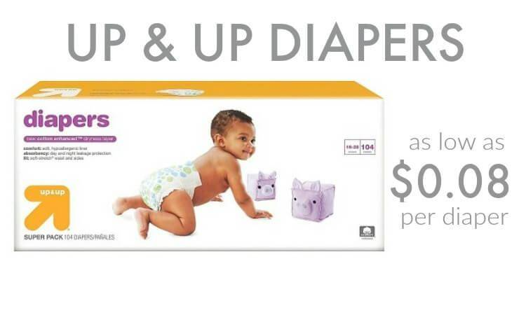 Up & Up Diapers $0.08