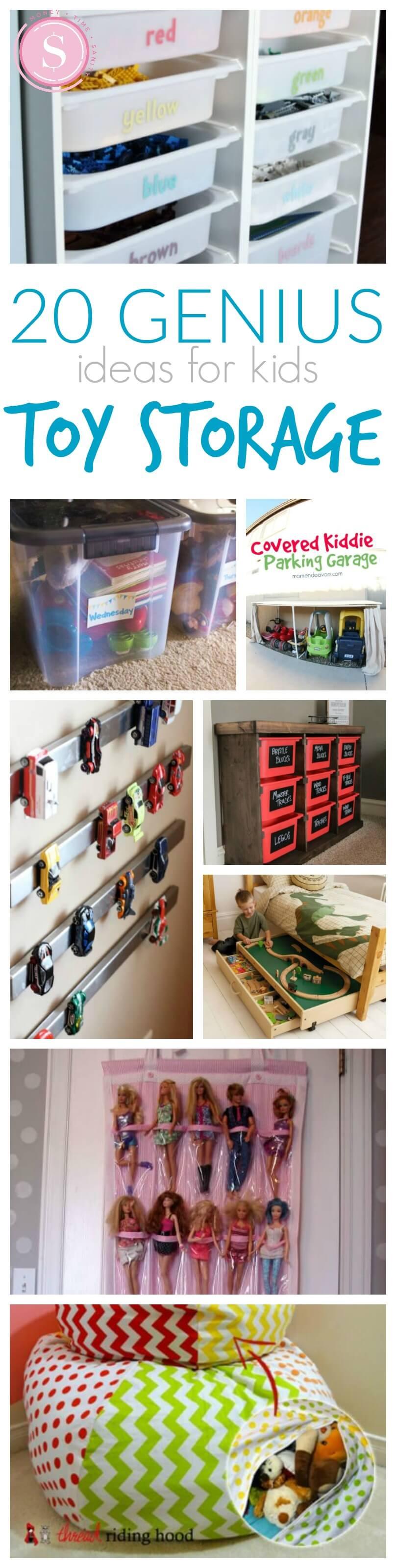 20 genius toy storage ideas for kids rooms 20 Storage Ideas