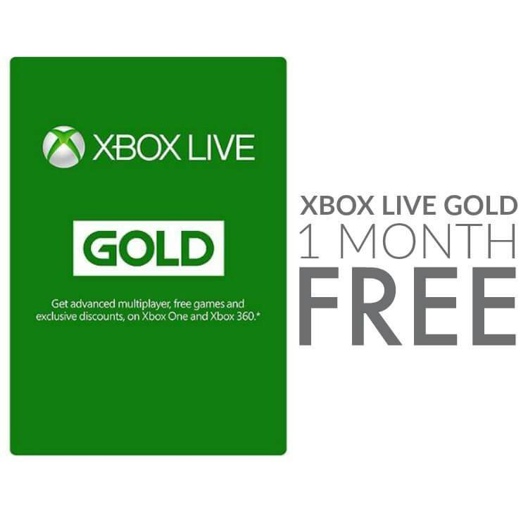 1 Month of Xbox Live Gold FREE