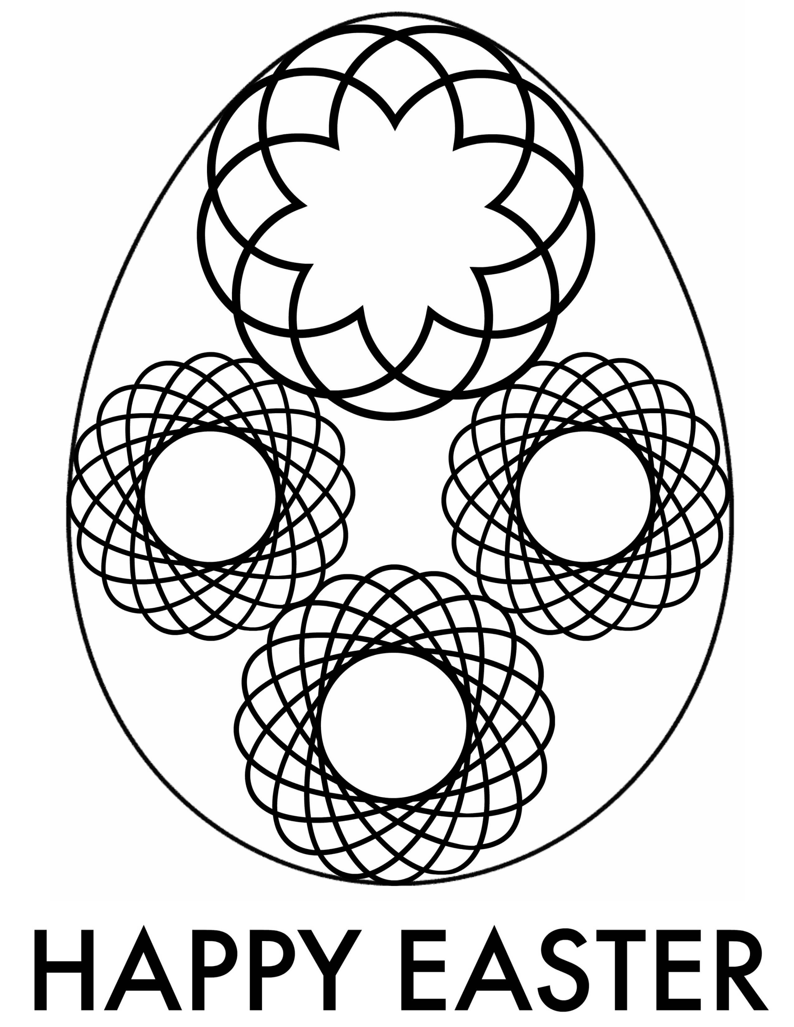 Easter Egg Coloring Page 3