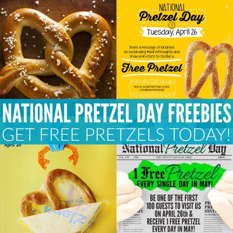 where free discounted pretzel national april