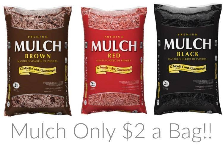 Through March 7th, Lowe'hocalinkz1.ga is offering Premium Mulch 2-cubic feet Bags for as low as $2 each with free in-store pick up, if available near you. You can choose between dark brown, black or red at this price.