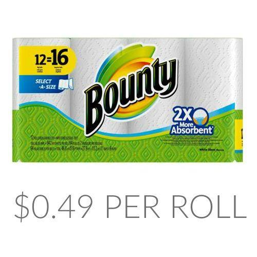 Bounty paper towels printable coupons