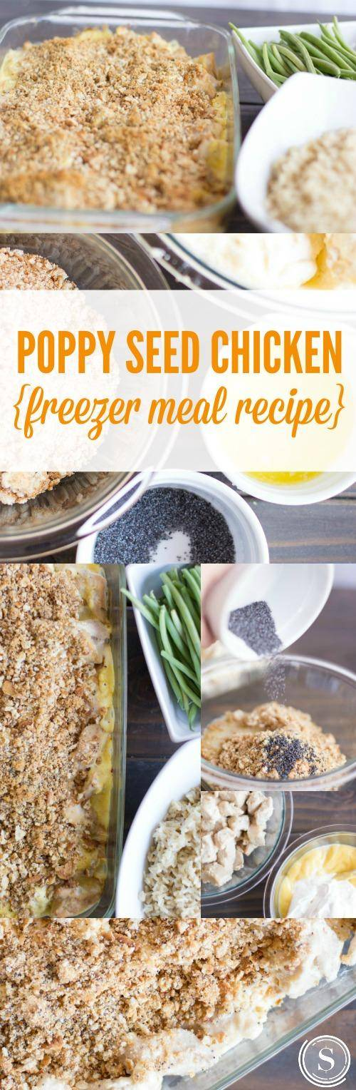 Poppy Seed Chicken Freezer Meal
