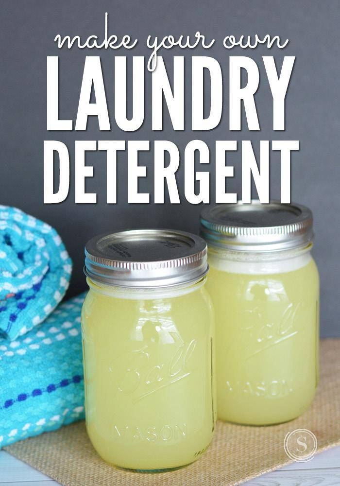 Making liquid laundry detergent is easy! You need a few supplies and will save lots on this simple and effective liquid laundry soap.