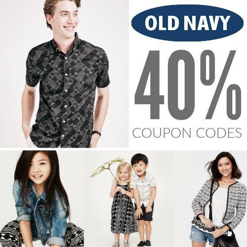 Old Navy 40 Off Coupons