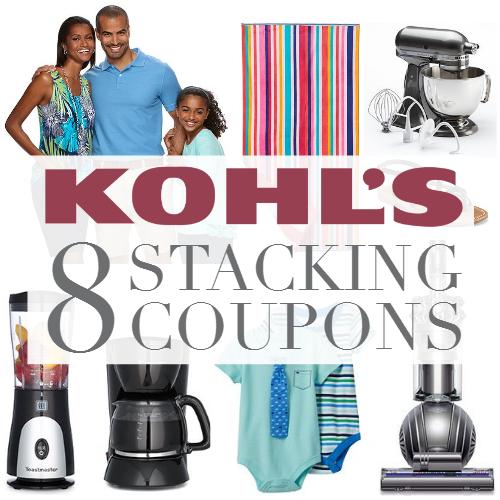 8 Kohl's Stacking Coupon Codes